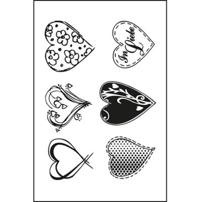 Efco (249) clear stamps Stempel Set - Herzen