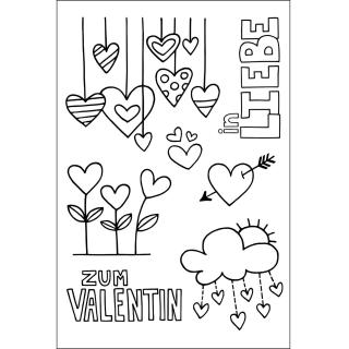 Efco (250) clear stamps Stempel Set - Zum Valentin - Herzen