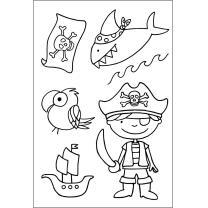 Efco (253) clear stamps Stempel Set - Pirat -...