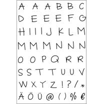Efco (254) clear stamps Stempel Set - Alphabet -...