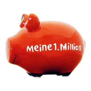 KCG Kleinschwein Keramik Sparschwein - Meine 1. Million -  ca. 12 cm x 9 cm