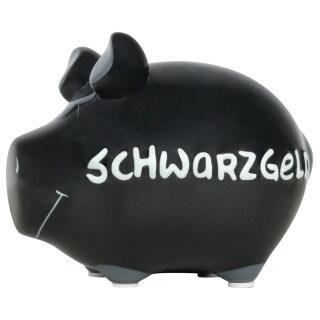 KCG Kleinschwein Keramik Sparschwein - Schwarzgeld -  ca. 12 cm x 9 cm