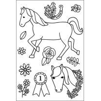 Efco (283) clear stamps Stempel Set - Pferde