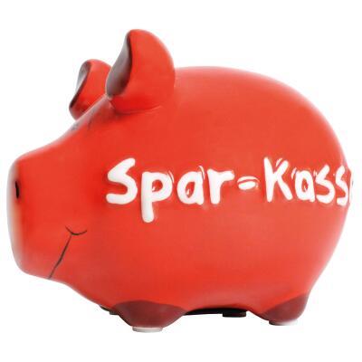 KCG Kleinschwein Keramik Sparschwein - Spar-Kasse -  ca. 12 cm x 9 cm