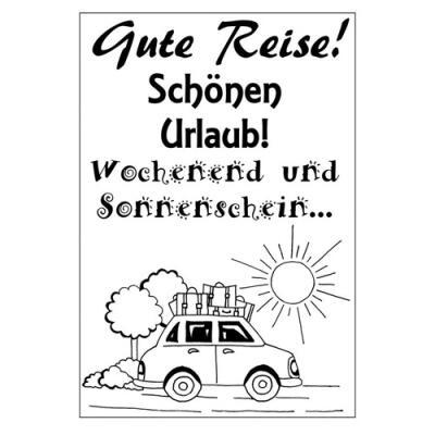 Efco (294) clear stamps Stempel Set - Gute Reise - Schönen Urlaub