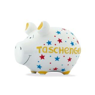 KCG Kleinschwein Keramik Sparschwein - Taschengeld -  ca. 12 cm x 9 cm