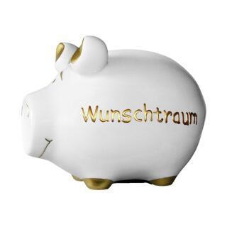 KCG Kleinschwein Keramik Sparschwein - Wunschtraum -  ca. 12 cm x 9 cm