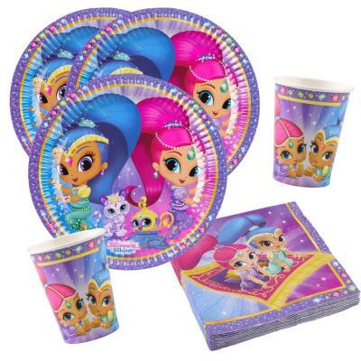 36 teiliges party set shimmer und shine teller becher for Kinder party set