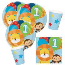 32-teiliges Party-Set Mein 1. Geburtstag Junge  - One is...