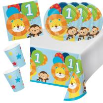 33-teiliges Party-Set  Mein 1. Geburtstag Junge  - One is...