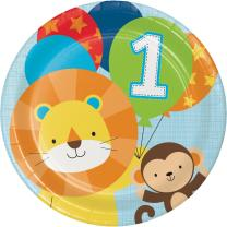 Mein 1. Geburtstag Junge  - One is fun  -  Teller,...