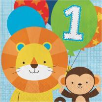 Mein 1. Geburtstag Junge  - One is fun -  Servietten, 16...