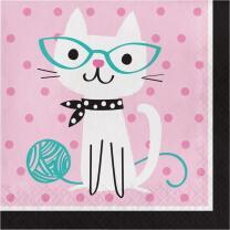 Katze - Kätzchen - Servietten, 16 Stück,  33 x...