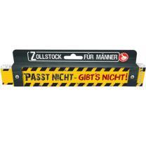 Spaß - Zollstock 2 m - Passt nicht - gibts nicht!...