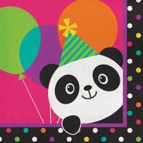 Panda Bär  -  Servietten, 16 Stück,  33 x 33 cm
