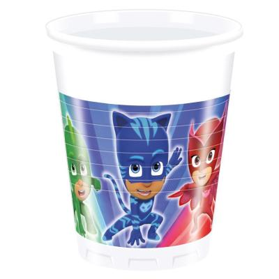 37-teiliges Party-Set PJ Mask Pyjamahelden - Party  - Teller Becher Servietten Tischdecke  für 8 Kinder