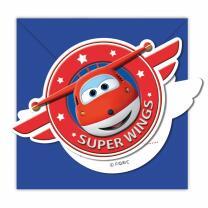 Super Wings Einladungen mit Umschlag, 6 Stück