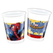 Spiderman Homecoming  Becher - Plastik, 8 Stück