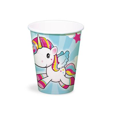 37-teiliges Party-Set Einhorn (Folat) - Unicorn - Teller Becher Servietten Tischdecke  für 8 Kinder