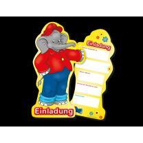 Elefant Benjamin Blümchen - Einladungen, 6...