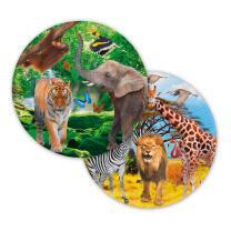 Teller - Pappteller, 8 Stück -  (Folat) wilde Tiere...