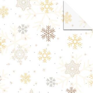 Aurelio Stern Set Faltblätter 14,8 x 14,8 cm - Classic Christmas Eisblumen creme/braun Transparentpapier (34035500)