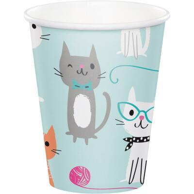 Katze Kätzchen - Pappbecher - 8 Stück,  0,25 l
