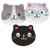 Katze - Kätzchen  -  Formteller, Pappteller - 8...