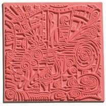 Texturmatte 90 x 90 mm  für Polymer Clay und zum...