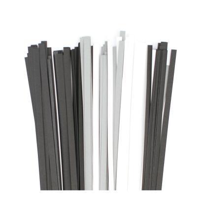 Karen - Marie Quilling Papierstreifen 5 mm  grau / schwarz / weiß (590)