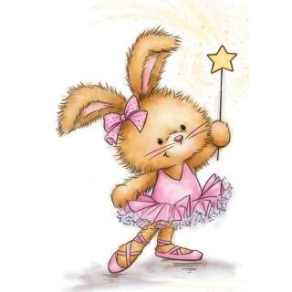 Wild Rose Studio CL501  Stempel clear stamp Bunny Ballerina - Hase
