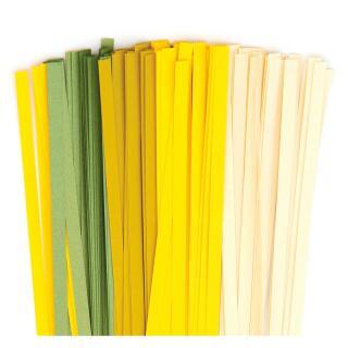 Karen - Marie Quilling Papierstreifen 5 mm creme / gelb / avocado / luxus grün (380)