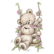 Wild Rose Studio CL504  Stempel clear stamp Bears on...