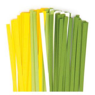 Karen - Marie Quilling Papierstreifen 5 mm weiß / gelb / grün (480)