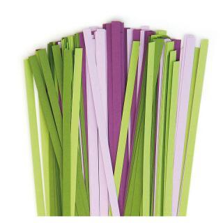 Karen - Marie Quilling Papierstreifen 5 mm grün / lila (416)