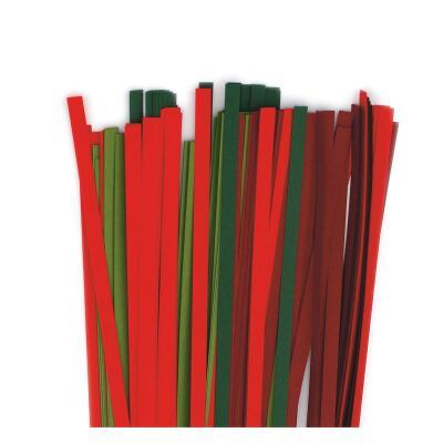 Karen - Marie Quilling Papierstreifen 5 mm rot / grün (426)