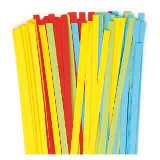 Quilling Papierstreifen 5 mm gelb / rot/ grün / blau (680)