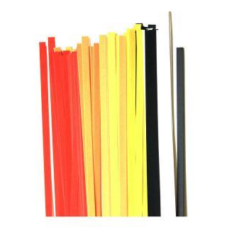 Quilling Papierstreifen 5 mm rot / gelb / schwarz / weiß (160)