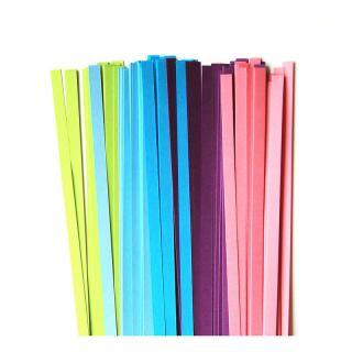 Quilling Papierstreifen 5 mm grün / blau / violett / pink (170)