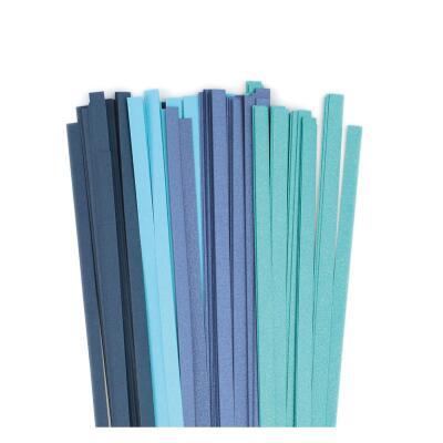 Quilling Papierstreifen 5 mm blau / türkis (387)