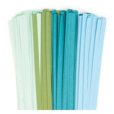 Quilling Papierstreifen 5 mm blau / grün / türkis (462)