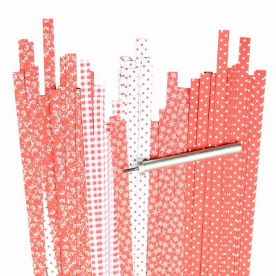 Quilling Papierstreifen 5 mm rot mix gemustert (287)