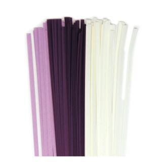 Quilling Papierstreifen 3 mm  lila / weiß (314)