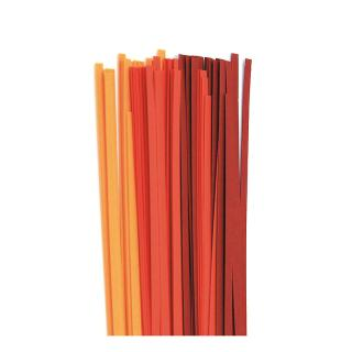 Quilling Papierstreifen 3 mm  orange / rot / cherry (208)