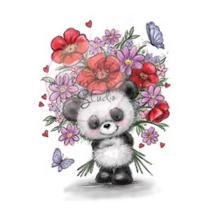 Wild Rose Studio CL452 Stempel clear stamp Panda with...