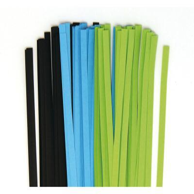 Quilling Papierstreifen 3 mm  blau / grün / schwarz (370)