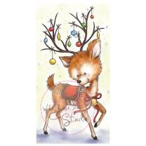Wild Rose Studio CL421 Stempel clear stamp Reindeer with...
