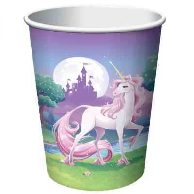 Einhorn  (creative converting)  -  8 Becher, Pappbecher  266 ml