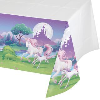 Einhorn  (creative converting)  -  Tischdecke 137 x 259 cm aus Kunststofffolie