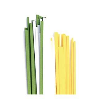 Quilling Papierstreifen 3 mm  gelb / weiß / grün (160)
